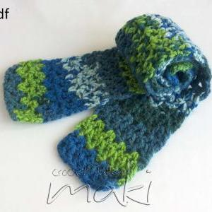 Crochet pattern scarf for baby, tod..