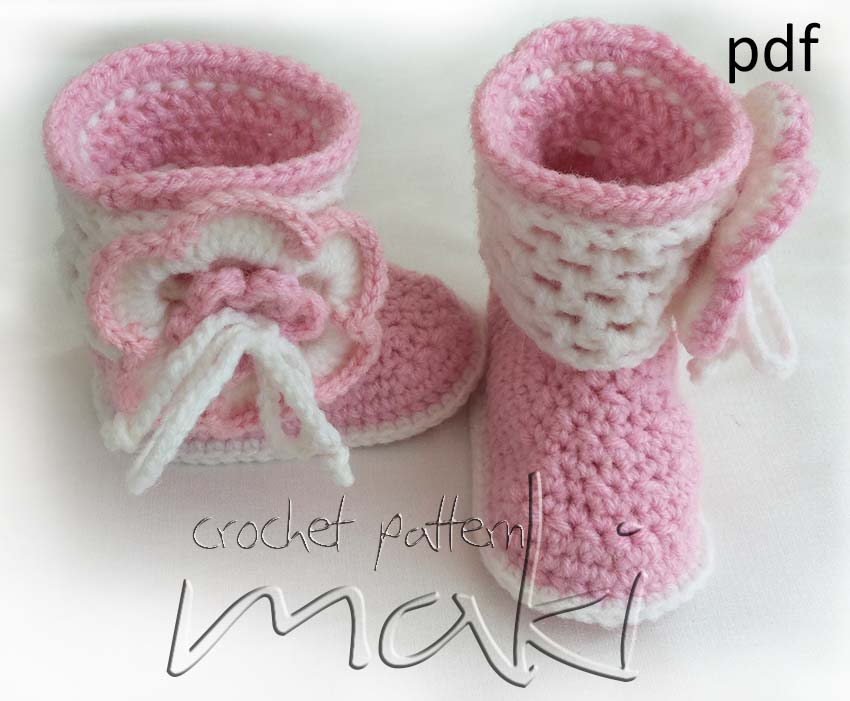 Crochet Pattern Baby Boots Permission To Sell Finished Items No