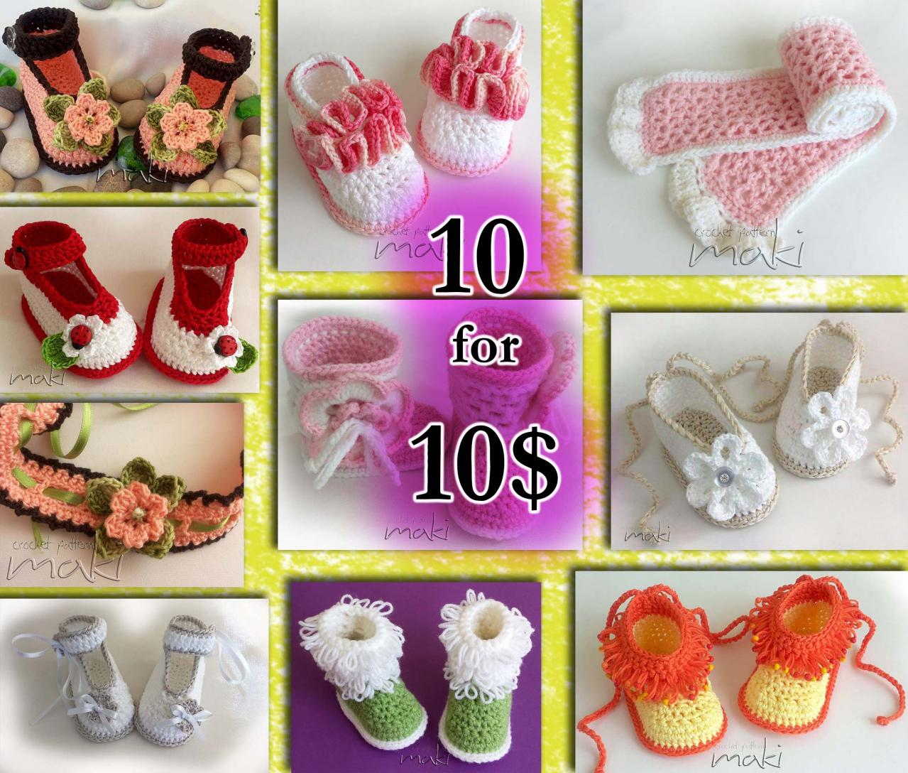Crochet patterns - Permission to sell finished items. Full of large pictures!